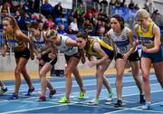 16 February 2019; A general view of the start of the Women's 3000m during day 1 of the Irish Life Health National Senior Indoor Athletics Championships at the National Indoor Arena in Abbotstown, Dublin. Photo by Sam Barnes/Sportsfile