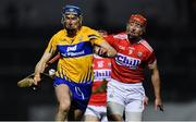 16 February 2019; David Fitzgerald of Clare in action against Bill Cooper of Cork during the Allianz Hurling League Division 1A Round 3 match between Cork and Clare at Páirc Uí Rinn in Cork. Photo by Piaras Ó Mídheach/Sportsfile
