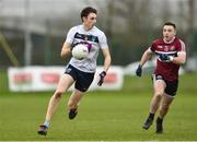 16 February 2019; Darren Gavin of UCD in action against Niall Toner of St Mary's University during the Electric Ireland HE GAA Sigerson Cup Semi-Final match between St Mary's University and University College Dublin at Mallow GAA in Mallow, Cork. Photo by Matt Browne/Sportsfile