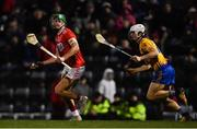 16 February 2019; Aidan Walsh of Cork in action against Aidan McCarthy of Clare during the Allianz Hurling League Division 1A Round 3 match between Cork and Clare at Páirc Uí Rinn in Cork. Photo by Piaras Ó Mídheach/Sportsfile