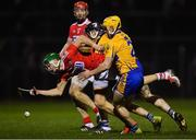 16 February 2019; Alan Cadogan of Cork, supported by team-mate Bill Cooper, in action against Rory Hayes, front, and Tony Kelly of Clare during the Allianz Hurling League Division 1A Round 3 match between Cork and Clare at Páirc Uí Rinn in Cork. Photo by Piaras Ó Mídheach/Sportsfile