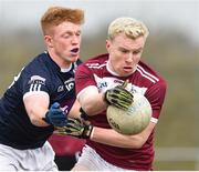 16 February 2019; Peter Herron of Liverpool Hope University in action against Sean Delappe of IT Tallaght during the Electric Ireland HE GAA Corn na Mac Leinn Final match between Liverpool Hope University and Institute of Technology Tallaght Tallaght at Mallow GAA in Mallow, Cork. Photo by Matt Browne/Sportsfile