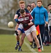 16 February 2019; Eoin King of Liverpool Hope University in action against Sean Delappe of IT Tallaght during the Electric Ireland HE GAA Corn na Mac Leinn Final match between Liverpool Hope University and Institute of Technology Tallaght Tallaght at Mallow GAA in Mallow, Cork. Photo by Matt Browne/Sportsfile