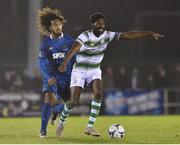 15 February 2019; Dan Carr of Shamrock Rovers in action against Bastien Hery of Waterford during the SSE Airtricity League Premier Division match between Waterford and Shamrock Rovers at the RSC in Waterford. Photo by Matt Browne/Sportsfile
