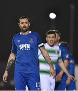 15 February 2019; Damien Delaney of Waterford during the SSE Airtricity League Premier Division match between Waterford and Shamrock Rovers at the RSC in Waterford. Photo by Matt Browne/Sportsfile