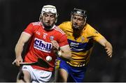 16 February 2019; Patrick Horgan of Cork in action against Jack Browne of Clare during the Allianz Hurling League Division 1A Round 3 match between Cork and Clare at Páirc Uí Rinn in Cork. Photo by Piaras Ó Mídheach/Sportsfile