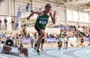 17 February 2019; Thomas Barr of Ferrybank AC, Co. Waterford, competing in the 400m event during day two of the Irish Life Health National Senior Indoor Athletics Championships at the National Indoor Arena in Abbotstown, Dublin. Photo by Sam Barnes/Sportsfile