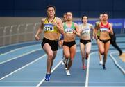 17 February 2019; Phil Healy of Bandon AC, Co. Cork on her way to winning the 400m event during day two of the Irish Life Health National Senior Indoor Athletics Championships at the National Indoor Arena in Abbotstown, Dublin. Photo by Sam Barnes/Sportsfile