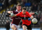 17 February 2019; Michael Flood of UCC in action against Michael Daly of NUIG during the Electric Ireland Sigerson Cup semi-final match between University College Cork and National University of Ireland, Galway at Mallow GAA in Mallow, Cork. Photo by Seb Daly/Sportsfile