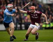 17 February 2019; Conor Whelan of Galway in action against Cian O'Callaghan of Dublin during the Allianz Hurling League Division 1B Round 3 match between Galway and Dublin at Pearse Stadium in Salthill, Galway. Photo by Harry Murphy/Sportsfile
