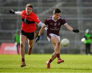 17 February 2019; Nathan Mullen of NUIG in action against Jack Kennedy of UCC during the Electric Ireland Sigerson Cup semi-final match between University College Cork and National University of Ireland, Galway at Mallow GAA in Mallow, Cork. Photo by Seb Daly/Sportsfile