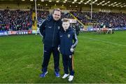 17 February 2019; Wexford manager Davy Fitzgerald with special guest Michael O'Brien from Killarney, Co Kerry, who he met Davy on the late late toy show last Christmas, on the pitch before the Allianz Hurling League Division 1A Round 3 match between Wexford and Tipperary at Innovate Wexford Park in Wexford. Photo by Matt Browne/Sportsfile