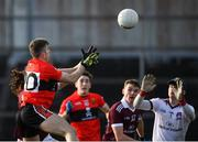 17 February 2019; Conor Geaney of UCC, left, scores his side's fourth goal during the Electric Ireland Sigerson Cup semi-final match between University College Cork and National University of Ireland, Galway at Mallow GAA in Mallow, Cork. Photo by Seb Daly/Sportsfile
