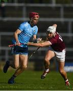 17 February 2019; Danny Sutcliffe of Dublin in action against Jason Flynn of Galway during the Allianz Hurling League Division 1B Round 3 match between Galway and Dublin at Pearse Stadium in Salthill, Galway. Photo by Harry Murphy/Sportsfile