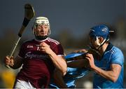 17 February 2019; Joe Canning of Galway in action against Seán Moran of Dublin during the Allianz Hurling League Division 1B Round 3 match between Galway and Dublin at Pearse Stadium in Salthill, Galway. Photo by Harry Murphy/Sportsfile