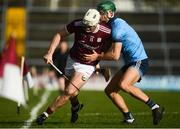 17 February 2019; Joe Canning of Galway in action against Chris Crummey of Dublin during the Allianz Hurling League Division 1B Round 3 match between Galway and Dublin at Pearse Stadium in Salthill, Galway. Photo by Harry Murphy/Sportsfile