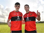 17 February 2019; Sean O'Shea, left, and Cian Kiely of UCC following their side's victory during the Electric Ireland Sigerson Cup semi-final match between University College Cork and National University of Ireland, Galway at Mallow GAA in Mallow, Cork. Photo by Seb Daly/Sportsfile