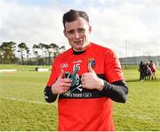 17 February 2019; Eimhin Courtney of UCC following his side's victory during the Electric Ireland Sigerson Cup semi-final match between University College Cork and National University of Ireland, Galway at Mallow GAA in Mallow, Cork. Photo by Seb Daly/Sportsfile