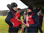 17 February 2019; NUIG manager Maurice Sheridan, left, and UCC manager Billy Morgan following the Electric Ireland Sigerson Cup semi-final match between University College Cork and National University of Ireland, Galway at Mallow GAA in Mallow, Cork. Photo by Seb Daly/Sportsfile