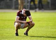 17 February 2019; Enda Tierney of NUIG following his side's defeat during the Electric Ireland Sigerson Cup semi-final match between University College Cork and National University of Ireland, Galway at Mallow GAA in Mallow, Cork. Photo by Seb Daly/Sportsfile