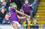 17 February 2019; Aidan Nolan of Wexford scores the winning point against Tipperary during the Allianz Hurling League Division 1A Round 3 match between Wexford and Tipperary at Innovate Wexford Park in Wexford. Photo by Matt Browne/Sportsfile