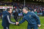 17 February 2019; Wexford manager Davy Fitzgerald and Tipperary manager Liam Sheedy after the Allianz Hurling League Division 1A Round 3 match between Wexford and Tipperary at Innovate Wexford Park in Wexford. Photo by Matt Browne/Sportsfile