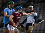 17 February 2019; Paul Killeen of Galway tussles with Alan Nolan of Dublin during the Allianz Hurling League Division 1B Round 3 match between Galway v Dublin at Pearse Stadium in Salthill, Galway. Photo by Harry Murphy/Sportsfile