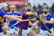 17 February 2019; Aidan Nolan of Wexford in action against Michael Breen and Jason Forde of Tipperary during the Allianz Hurling League Division 1A Round 3 match between Wexford and Tipperary at Innovate Wexford Park in Wexford. Photo by Matt Browne/Sportsfile