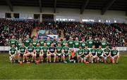 16 February 2019; The Gaoth Dobhair team prior to the AIB GAA Football All-Ireland Senior Championship Semi-Final match between Corofin, Galway, and Gaoth Dobhair, Donegal, at Avantcard Páirc Sean Mac Diarmada in Carrick-on-Shannon, Leitrim. Photo by Stephen McCarthy/Sportsfile