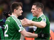 16 February 2019; Caoimhín Ó Casaide, right, and Gary Mac Pháidín of Gaoth Dobhair prior to the AIB GAA Football All-Ireland Senior Championship Semi-Final match between Corofin, Galway, and Gaoth Dobhair, Donegal, at Avantcard Páirc Sean Mac Diarmada in Carrick-on-Shannon, Leitrim. Photo by Stephen McCarthy/Sportsfile