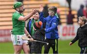 17 February 2019; Shane Dowling of Limerick with supporters after the Allianz Hurling League Division 1A Round 3 match between Kilkenny and Limerick at Nowlan Park in Kilkenny. Photo by Piaras Ó Mídheach/Sportsfile