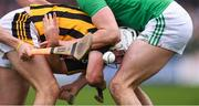 17 February 2019; Pádraig Walsh of Kilkenny looks on after the sliotar as he is tackled by Kyle Hayes of Limerick during the Allianz Hurling League Division 1A Round 3 match between Kilkenny and Limerick at Nowlan Park in Kilkenny. Photo by Piaras Ó Mídheach/Sportsfile