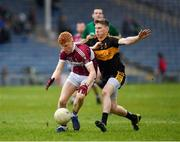 16 February 2019; Jayson Matthews of Mullinalaghta St Columba's in action against David O'Leary of Dr Crokes during the AIB GAA Football All-Ireland Senior Club Championship Semi-Final match between Mullinalaghta St Columba's and Dr Crokes at Semple Stadium in Thurles, Tipperary. Photo by Seb Daly/Sportsfile