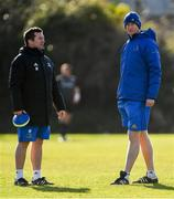 18 February 2019; Head coach Leo Cullen, right, and scrum coach John Fogarty during Leinster Rugby Squad Training at Rosemount in UCD, Dublin. Photo by Piaras Ó Mídheach/Sportsfile