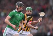 17 February 2019; Conor Boylan of Limerick in action against Paul Murphy of Kilkenny during the Allianz Hurling League Division 1A Round 3 match between Kilkenny and Limerick at Nowlan Park in Kilkenny. Photo by Piaras Ó Mídheach/Sportsfile