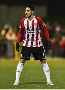 15 February 2019; Gerardo Bruna of Derry City during the SSE Airtricity League Premier Division match between Derry City and UCD at the Ryan McBride Brandywell Stadium in Derry. Photo by Oliver McVeigh/Sportsfile