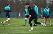 20 February 2019; Joey Carbery during Ireland Rugby squad training at Carton House in Maynooth, Kildare. Photo by Brendan Moran/Sportsfile