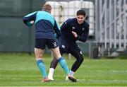20 February 2019; Joey Carbery, right, and Keith Earls during Ireland Rugby squad training at Carton House in Maynooth, Kildare. Photo by Brendan Moran/Sportsfile