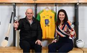 20 February 2019; TILDA Ambassadors and former Donegal footballers Anthony Molloy and Maria Devenney during the How to Age Well: GAA and TILDA Partnership launch at Croke Park in Dublin. The partnership  will see live talks take place across Ireland in Mayo, Cork, Donegal, Longford and Limerick. Photo by Sam Barnes/Sportsfile