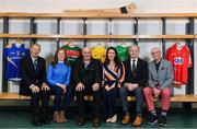 20 February 2019; In attendance are TILDA ambassadors, from left, Mícheál Ó Muircheartaigh, GAA Commentator, Claire Egan, former Mayo Footballer, Anthony Molloy and Maria Devenney, former Donegal footballers, Eamonn Rea, former Limerick hurler, and Denis Coughlan, former Cork dual player, during the How to Age Well: GAA and TILDA Partnership launch at Croke Park in Dublin. The partnership will see live talks take place across Ireland in Mayo, Cork, Donegal, Longford and Limerick. Photo by Sam Barnes/Sportsfile