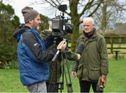 20 February 2019; Trainer Willie Mullins is interviewed by the press during a visit to Willie Mullins' yard at Willie Mullins Racing in Bagenalstown, Carlow. Photo by Matt Browne/Sportsfile