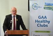 20 February 2019; Uachtaráin Cumann Lúthchleas Gael John Horan, speaking during the How to Age Well: GAA and TILDA Partnership launch at Croke Park in Dublin. The partnership  will see live talks take place across Ireland in Mayo, Cork, Donegal, Longford and Limerick. Photo by Sam Barnes/Sportsfile