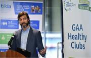 20 February 2019; Colin Regan, GAA Community & Health manager, speaking during the How to Age Well: GAA and TILDA Partnership launch at Croke Park in Dublin. The partnership  will see live talks take place across Ireland in Mayo, Cork, Donegal, Longford and Limerick. Photo by Sam Barnes/Sportsfile