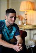 20 February 2019; John Cooney speaks to the media during an Ireland rugby press conference at Carton House in Maynooth, Kildare. Photo by Brendan Moran/Sportsfile