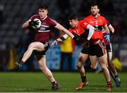 20 February 2019; Ryan Coleman of St Mary's in action against Jack Kennedy of UCC during the Electric Ireland HE GAA Sigerson Cup Final match between St Mary's University College Belfast and University College Cork at O'Moore Park in Portlaoise, Laois. Photo by Piaras Ó Mídheach/Sportsfile