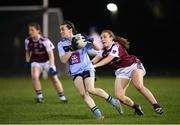 20 February 2019; Dearbhaile Beirne of UCD in action against Chloe Crowe of NUI Galway during the O'Connor Cup Round 2 match between University College Dublin and National University of Ireland Galway at Billings Park in Belfield, UCD, Dublin. Photo by Stephen McCarthy/Sportsfile
