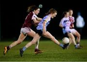 20 February 2019; Chloe Foxe of UCD and Eimile Gavin of NUI Galway during the O'Connor Cup Round 2 match between University College Dublin and National University of Ireland Galway at Billings Park in Belfield, UCD, Dublin. Photo by Stephen McCarthy/Sportsfile