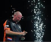 21 February 2019; Raymond van Barneveld following his Premier League Darts Night Three match against Mensur Suljovic at the 3Arena in Dublin. Photo by Seb Daly/Sportsfile