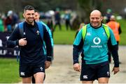 22 February 2019; Rob Kearney, and Rory Best arrive for Ireland Rugby squad training at Carton House in Maynooth, Kildare. Photo by Brendan Moran/Sportsfile
