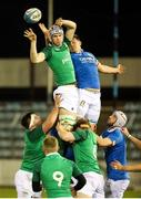 22 February 2019; Niall Murray of Ireland wins possession from a lineout during the U20 Six Nations Rugby Championship match between Italy and Ireland at Stadio Centro d'Italia in Rieti, Italy. Photo by Daniele Resini/Sportsfile